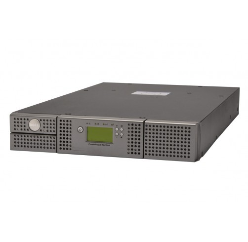 Dell PowerVault TL2000 Tape Library, 2U, 24 Slot, 1 or 2 Drives