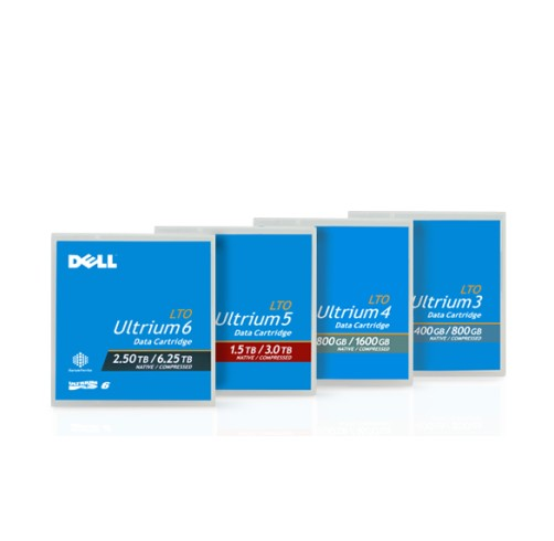 Dell(TM) Media Tape Cartridge (5-Pack) for LTO6 (1 Year Warranty)